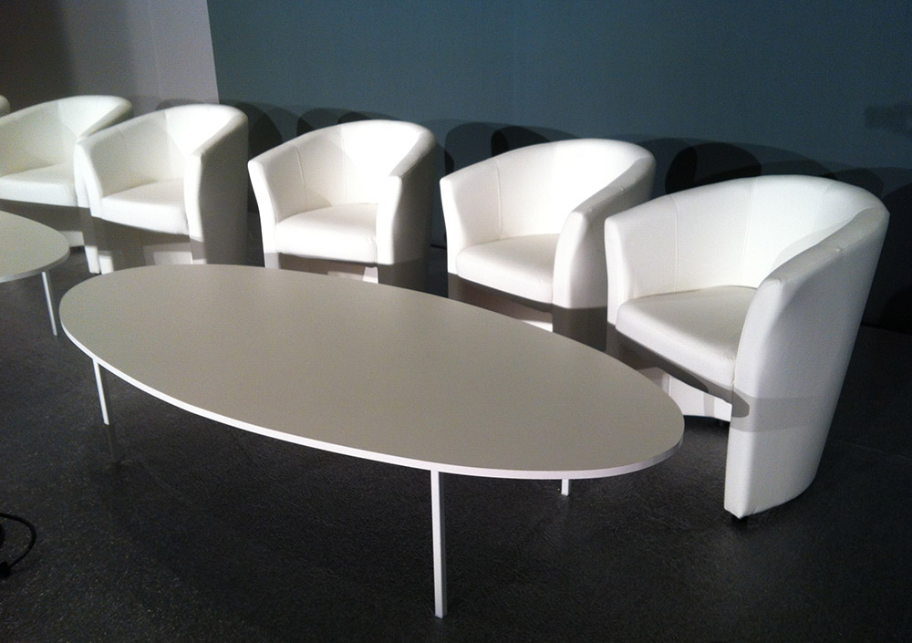 Tables basses - Table basse blanche ovale ...